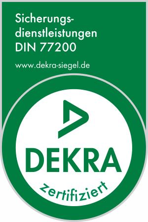 DEKRA zertifiziert - Sicherheitsdienstleistungen DIN 77200